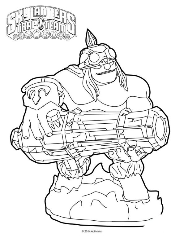 Skylanders hot head coloring pages ~ Kids-n-fun | 33 Kleurplaten van Skylander Trap team