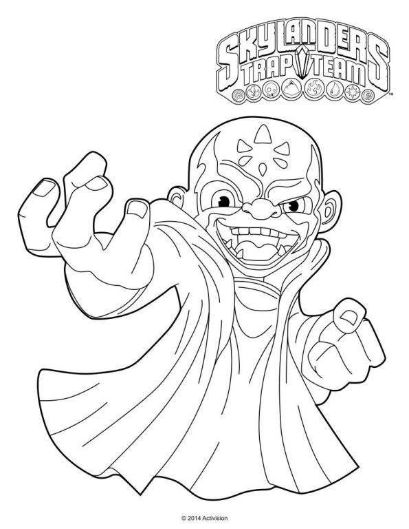 skylanders coloring pages dejau printable - photo#10