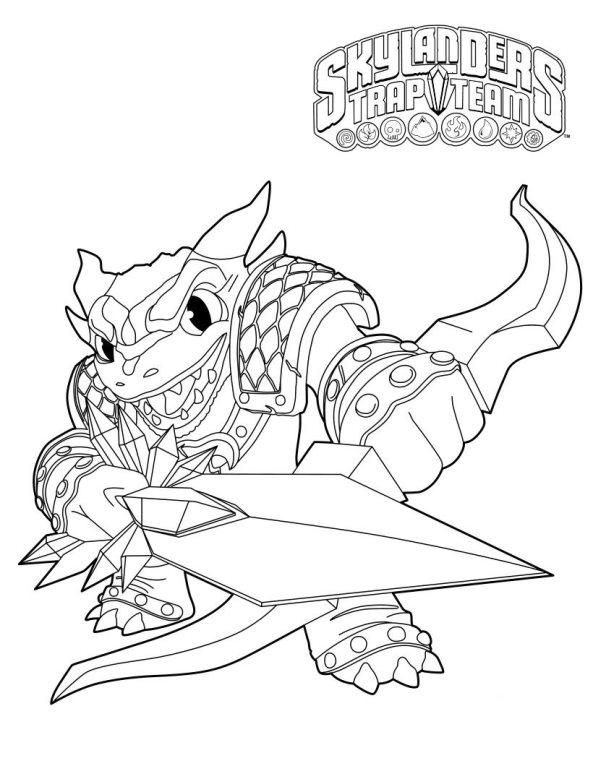 Skylander trap team coloring pages jawbreaker cast ~ Kids-n-fun | 33 Kleurplaten van Skylander Trap team