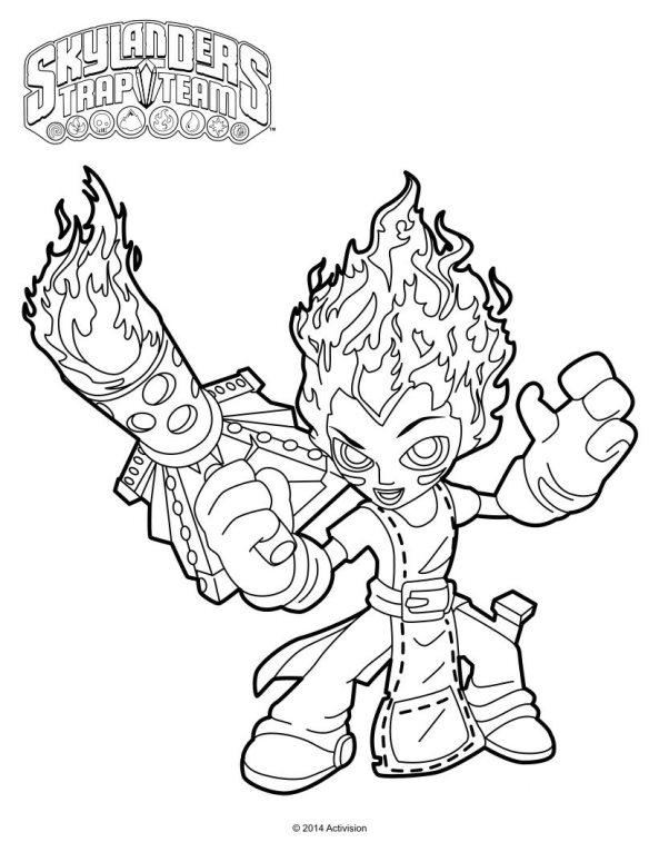 skylander coloring pages ninjini vs scarlet   Kids-n-fun   33 Kleurplaten van Skylander Trap team