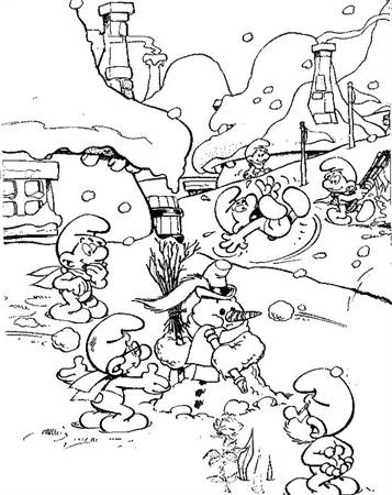 Kleurplaten Smurfen Voetbal.Kids N Fun 59 Kleurplaten Van Smurfen