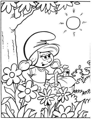 Kleurplaten Van Baby Smurf.Kids N Fun 59 Kleurplaten Van Smurfen