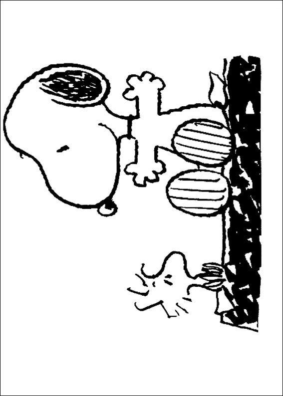 Kids n fun 23 kleurplaten van snoopy - Snoopy dessin ...