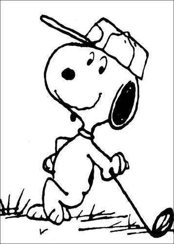 Kids N Fun 23 Kleurplaten Van Snoopy
