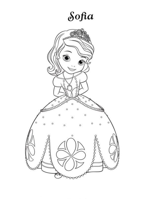 Kleurplaat Tinkerbell Kerst Kids N Fun 13 Kleurplaten Van Sofia Het Prinsesje