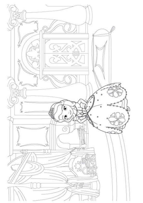 Kids n fun 13 kleurplaten van sofia het prinsesje - Wallpaper volwassen kamer zen ...