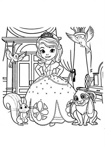 Kids N Fun 13 Kleurplaten Van Sofia Het Prinsesje