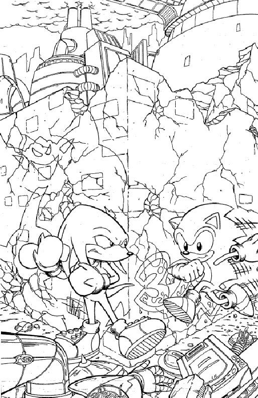 Kleurplaten Mario En Sonic.Kleurplaat Metal Sonic