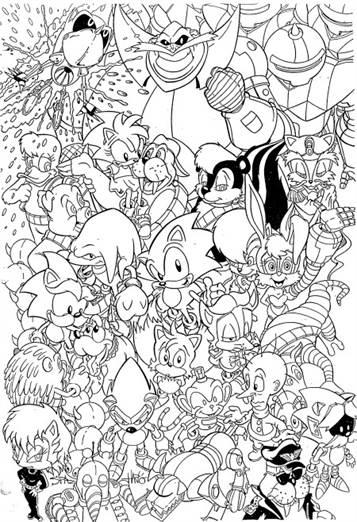 Kleurplaten Mario En Sonic.Kids N Fun 20 Kleurplaten Van Sonic X