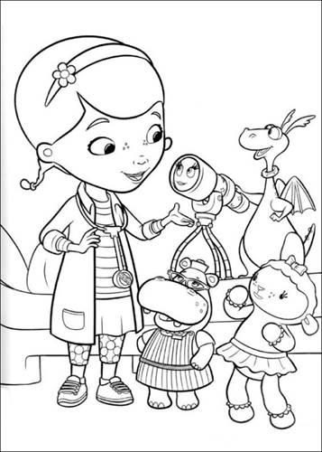 Kleurplaten Disney Junior.Kids N Fun 19 Kleurplaten Van Speelgoeddokter