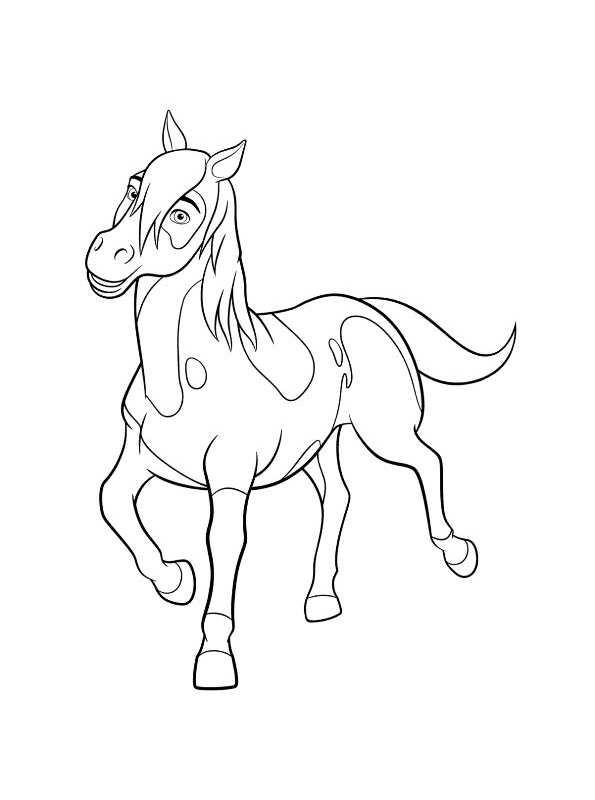 Valentijn Kleurplaat Paarden Kids N Fun 16 Kleurplaten Van Spirit Riding Free