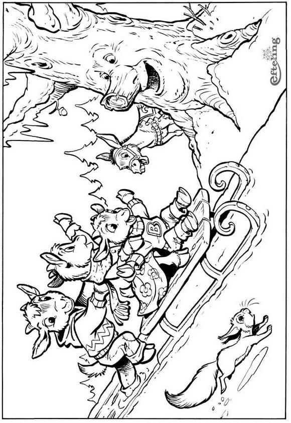 Kleurplaat Sprookjesboom Prinses Archidev