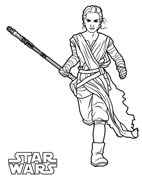 Kleurplaten Star Wars.Kids N Fun Kleurplaat Star Wars The Force Awakens Star Wars The