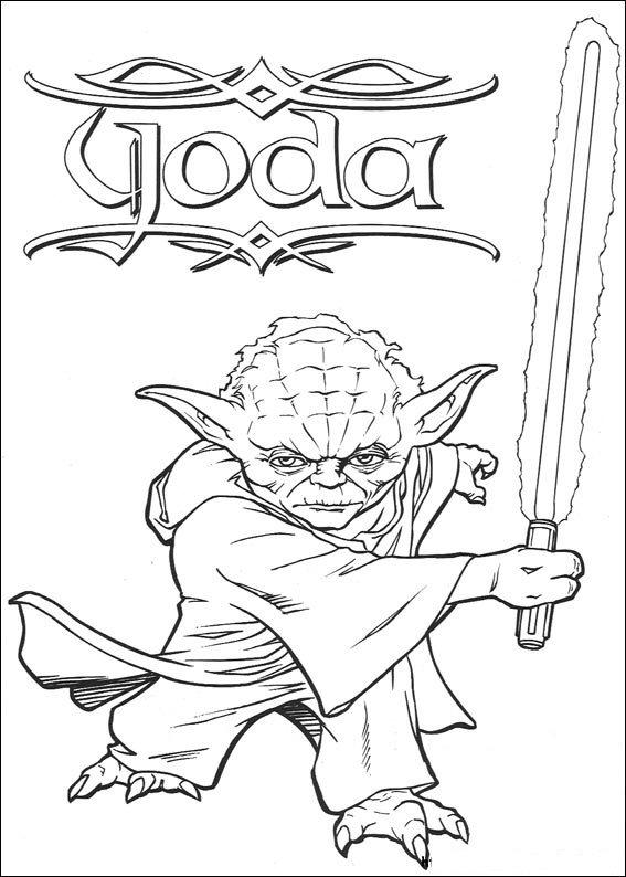 Kids N Fun Kleurplaat Star Wars Yoda