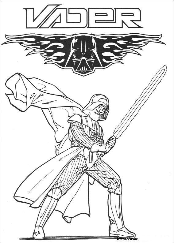Kids N Fun Kleurplaat Star Wars Dart Vader