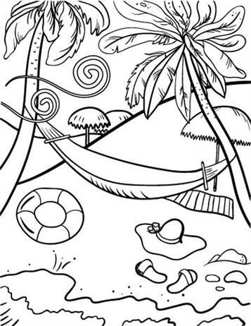 Kleurplaten Vakantie Aan Zee.Kids N Fun 22 Kleurplaten Van Strand