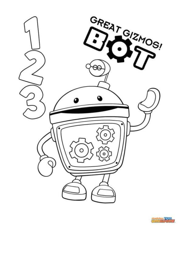 Kleurplaten Team Umizoomi.Kids N Fun Kleurplaat Team Umizoomi Bot