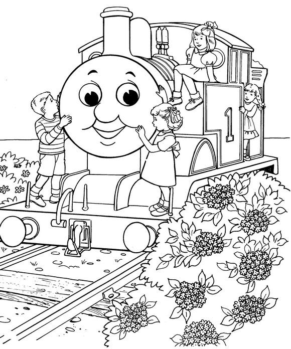 kleurplaten thomas de trein diesel