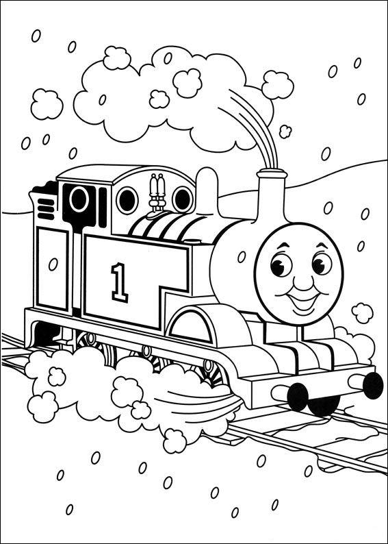 kleurplaten van thomas de trein