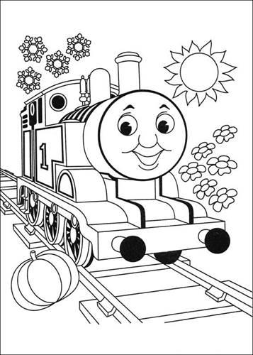 kids-n-fun | 56 kleurplaten van thomas de trein