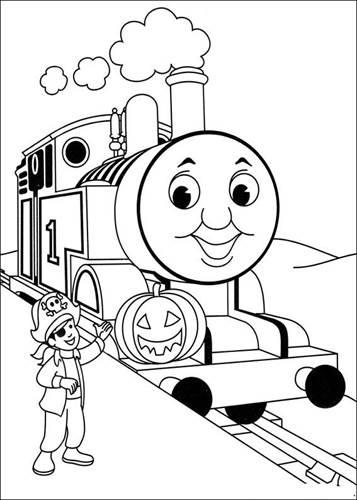 Kleurplaat Trein Peuters Locomotief Knutselen Dejachthoorn