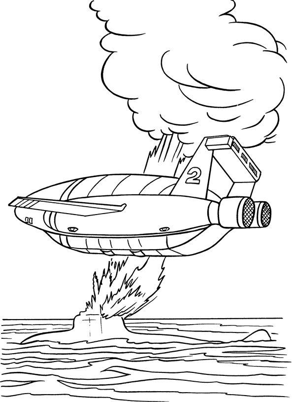 Kids n fun 16 kleurplaten van thunderbids are go for Thunderbirds coloring pages