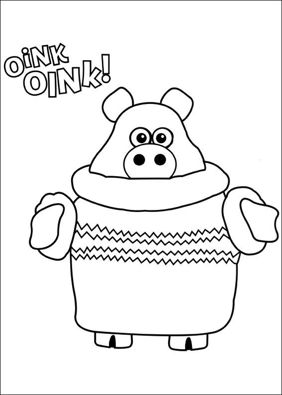 timmy time coloring pages - kids n fun kleurplaat timmy time timmy time