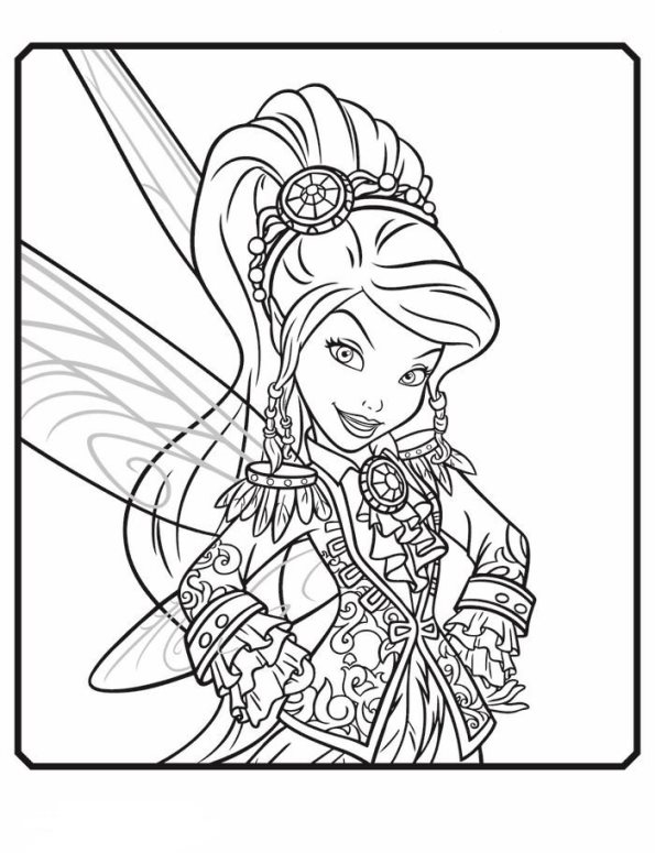 Kids n fun kleurplaat tinkerbell en de piraten vidia for Vidia fairy coloring pages
