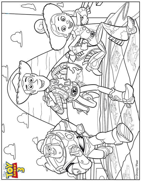 Disney Pixar Kleurplaten.Kids N Fun Kleurplaat Toy Story 3 Toy Story 3