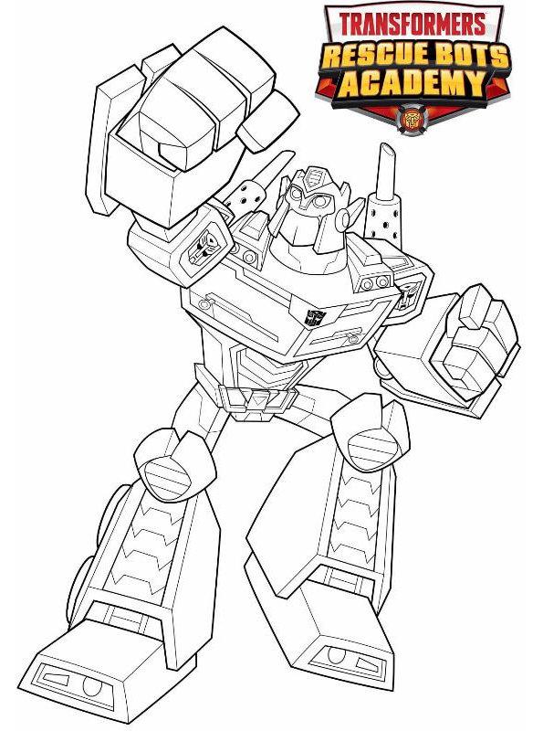 n kleurplaat transformers rescue bots optimus