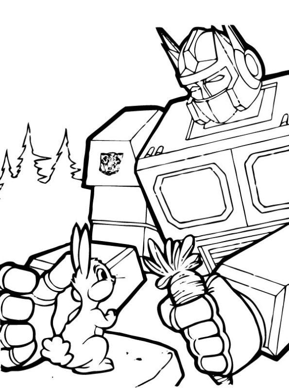 n kleurplaat transformers rescue bots
