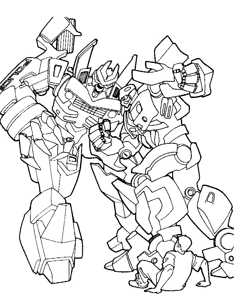 transformers 5 kleurplaten