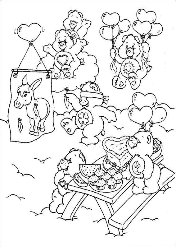 Kidsnfun Kleurplaat Troetelbeertjes