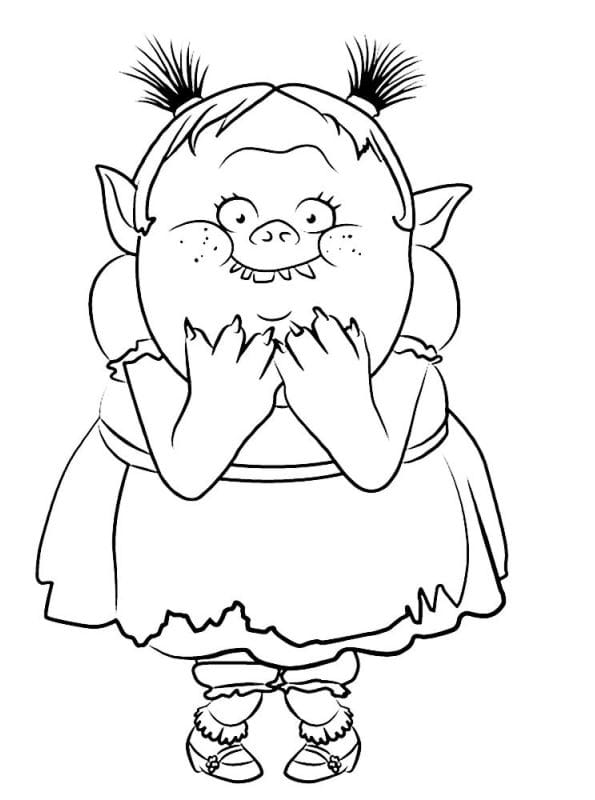 Kids n fun 26 kleurplaten van trolls for Trolls smidge coloring page