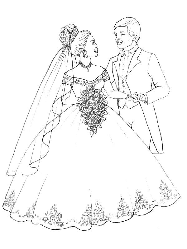 kleurplaten over trouwen