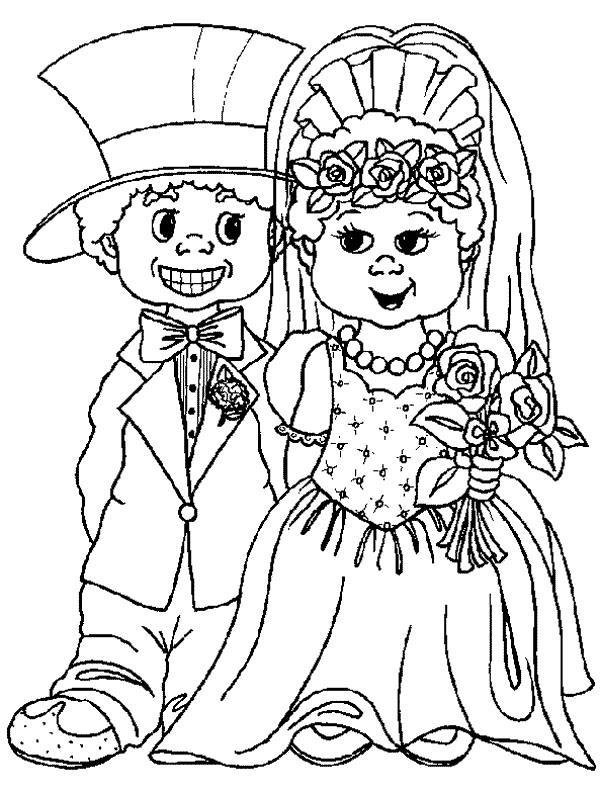 getrouwd kleurplaat Kids n fun | 34 Kleurplaten van Trouwen getrouwd kleurplaat
