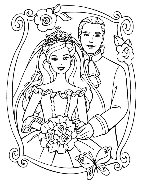 kleurplaten van trouwen