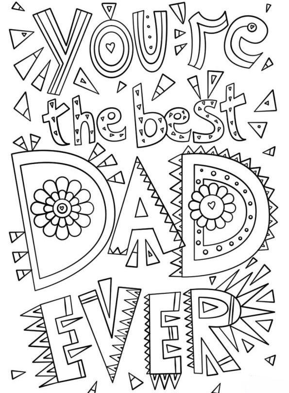 n kleurplaat vaderdag vaderdag