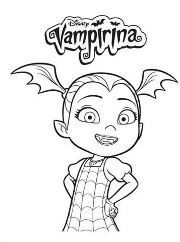 Kleurplaten Disney Junior.Kids N Fun 4 Kleurplaten Van Vampirina
