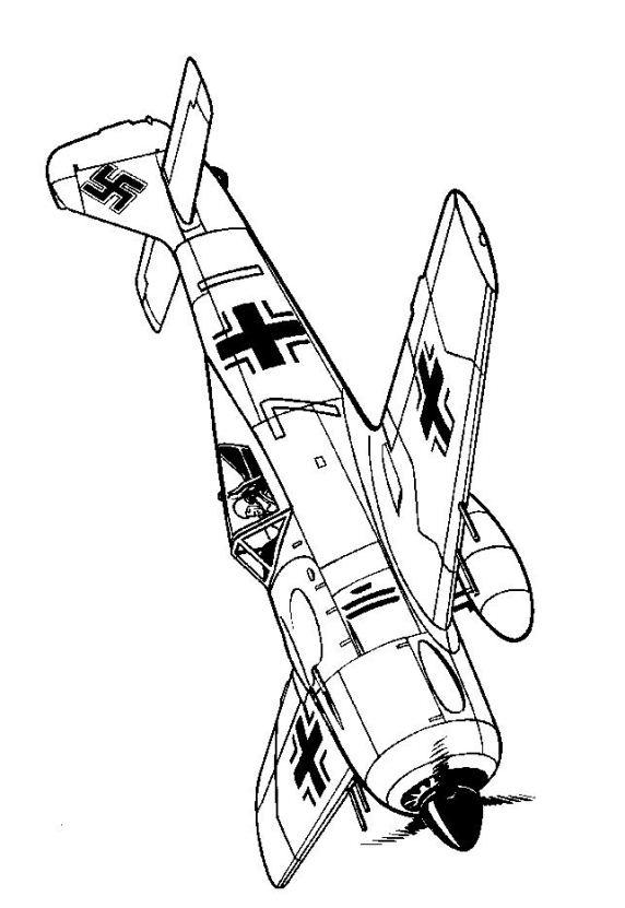 Kidsnfun Kleurplaat Vliegtuigen