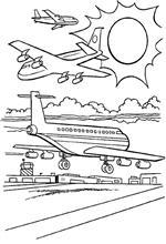 n 21 kleurplaten vliegtuigen