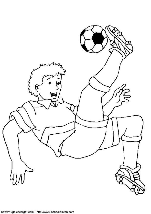 Kleurplaten Rode Duivels Voetbal.Kids N Fun Kleurplaat Voetbal Omhaal