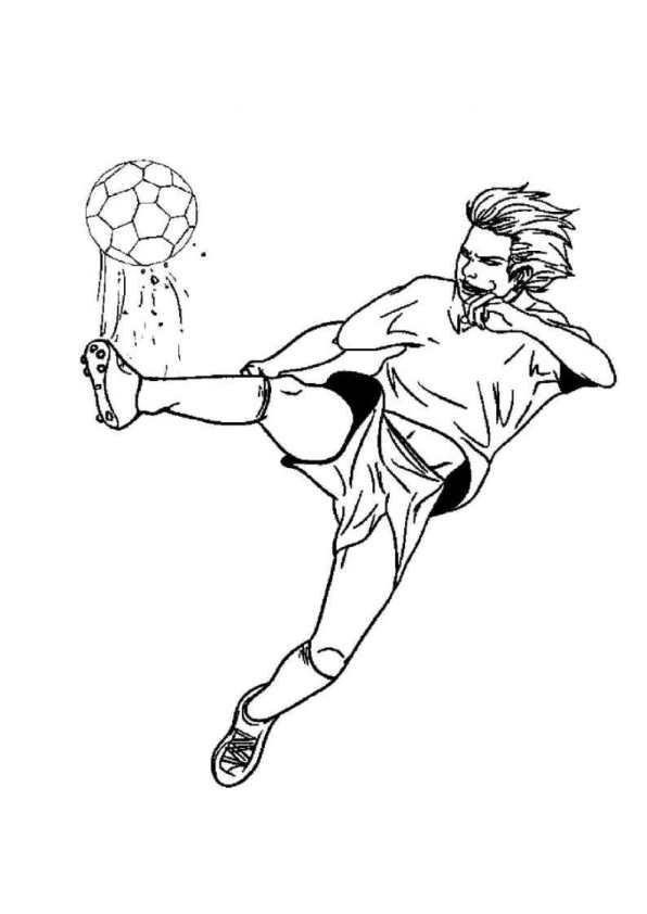 Kleurplaten Voor Volwassenen Voetbal.Kleurplaat Voetbal