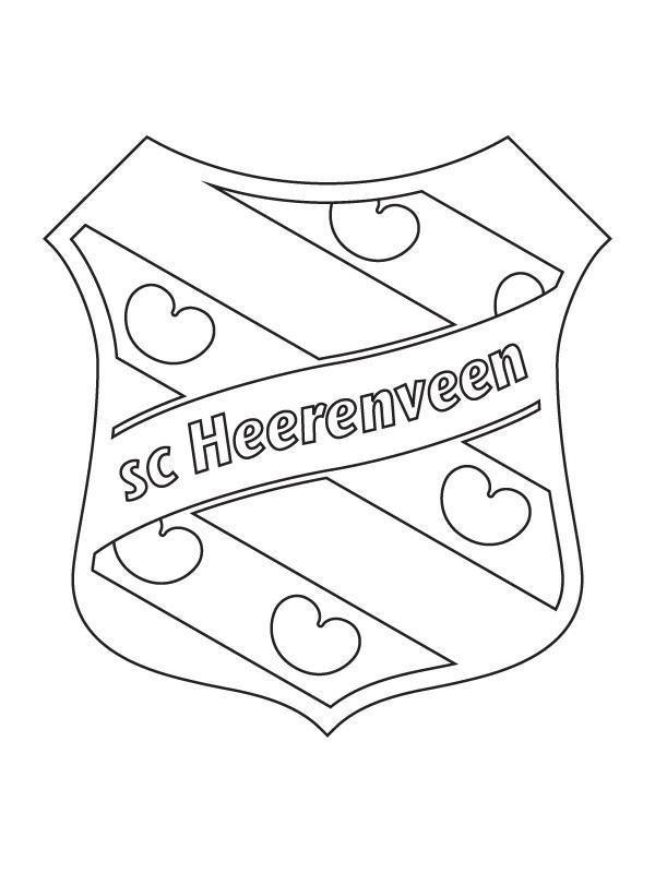 Kids N Fun Kleurplaat Voetbalclubs Nederland Heerenveen