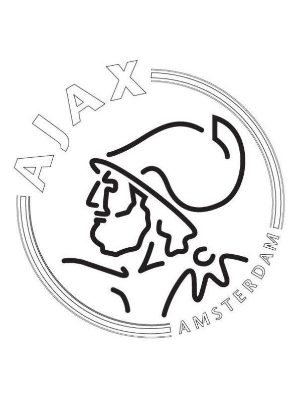Kleurplaten Ajax Logo.Kids N Fun Kleurplaat Voetbalclubs Europa Afc Ajax
