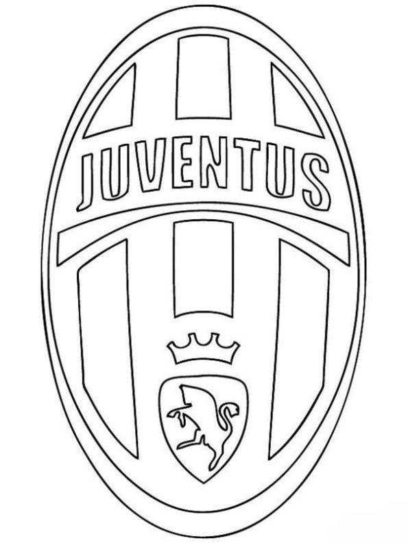 n kleurplaat voetbalclubs europa juventus