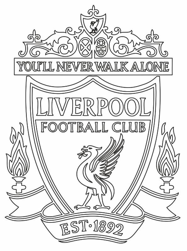 Kleurplaten Europa.Kids N Fun Kleurplaat Voetbalclubs Europa Liverpool