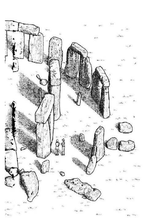 Kids N Fun Kleurplaat Wereld Wonder Ii Stonehenge Deel 2