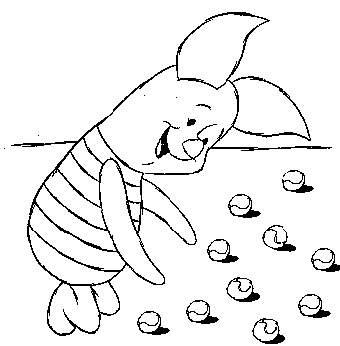 n kleurplaat winnie de pooh en knorretje knorretje