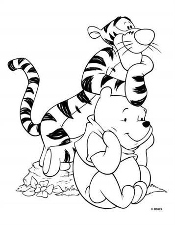 Kleurplaten Winnie The Pooh En Zijn Vriendjes.Kids N Fun 94 Kleurplaten Van Winnie De Pooh